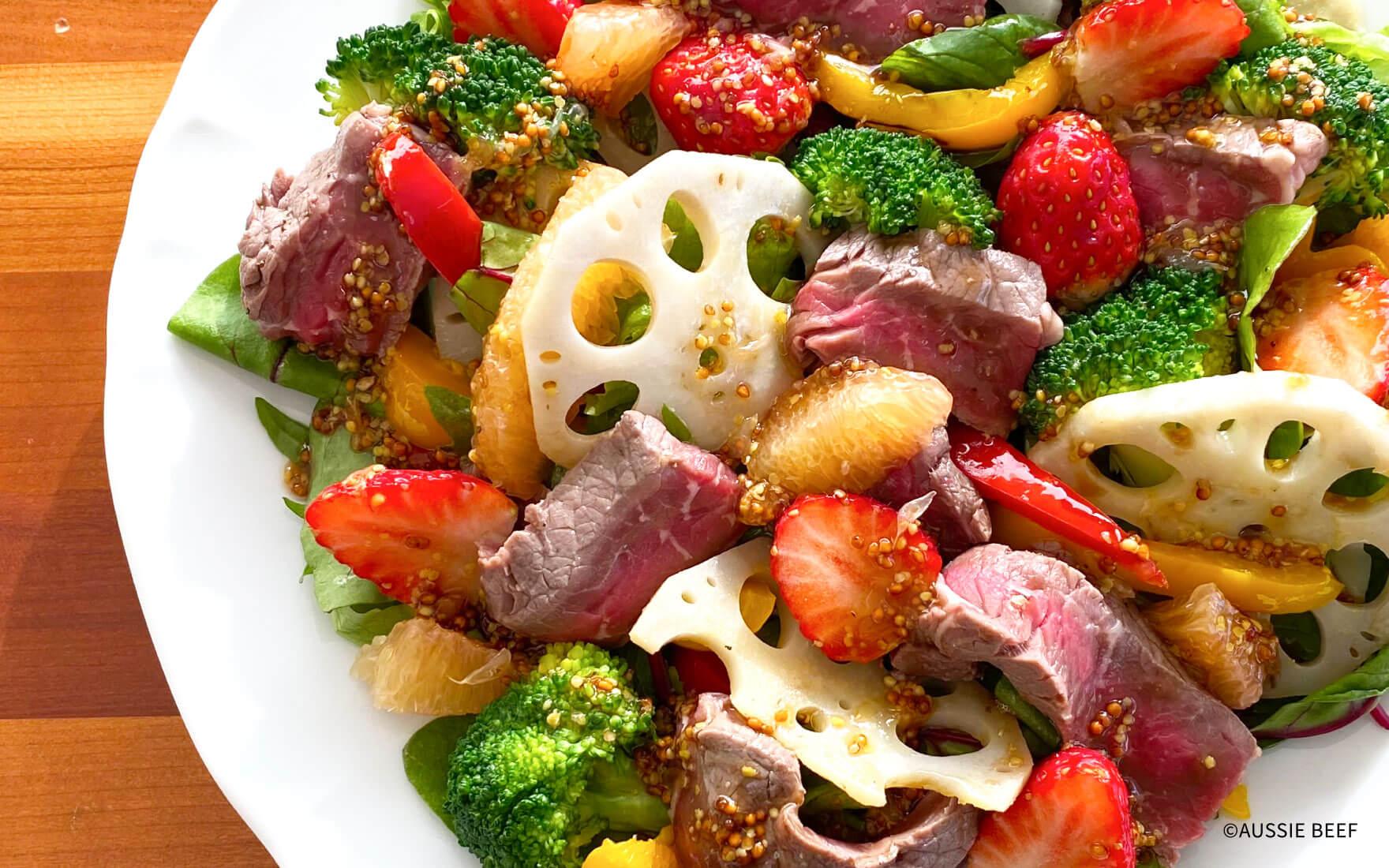 クリスマスにオージー・ビーフ/たっぷり野菜と一緒にビタミンも補給